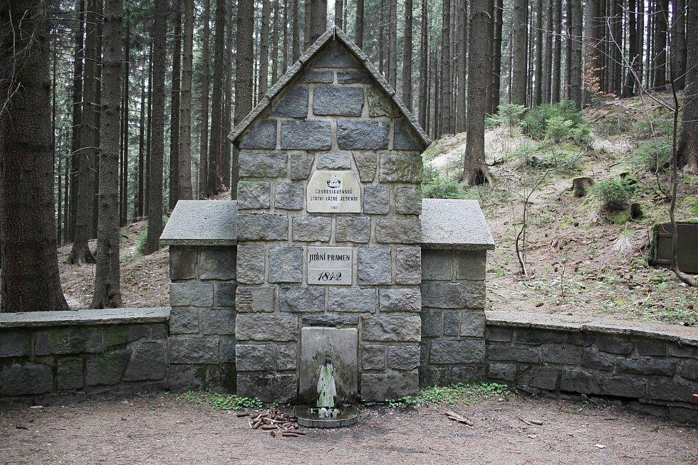 Prameny v okolí jesenických lázní a na Studničním vrchu.