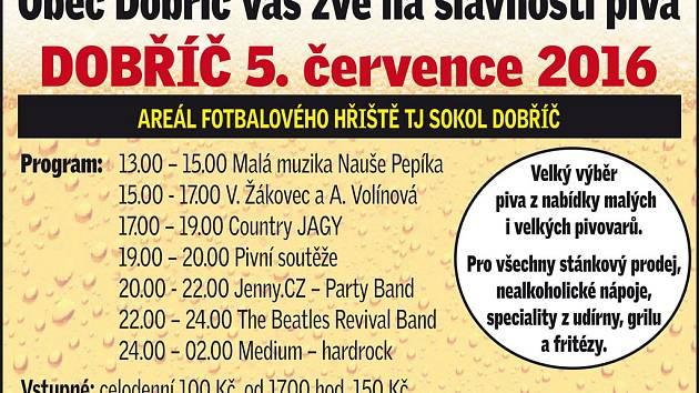Slavnosti piva v Dobříči 5. července 2015.