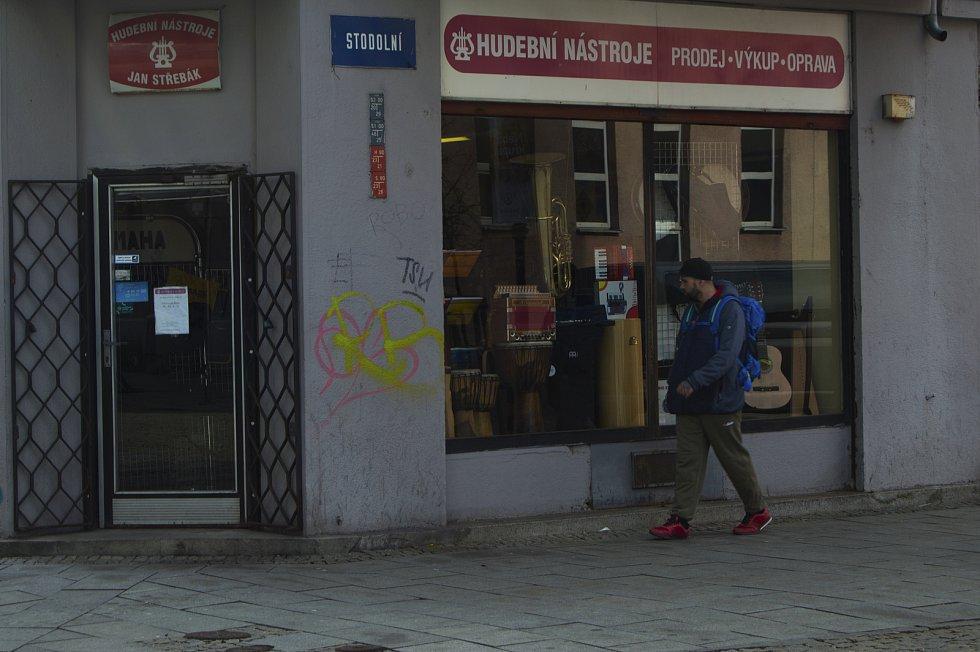 Ulice Stodolní, 4. března 2019 v Ostravě. Foto: Iveta Dudková
