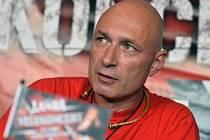 Daniel Landa vystoupil 31. srpna v Praze na tiskové konferenci k albu Žito a chystanému koncertu.