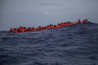 Migranti na trase přes moře, ilustrační foto