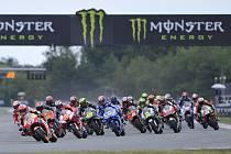 Velká cena České republiky, závod mistrovství světa silničních motocyklů kategorie MotoGP v Brně 4. srpna 2019. Start závodu.