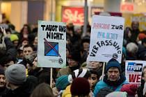 Demonstrace proti rakouské vládě