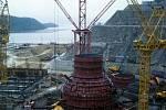 Stavba japonské jaderné elektrárny Curuga, rok 1967