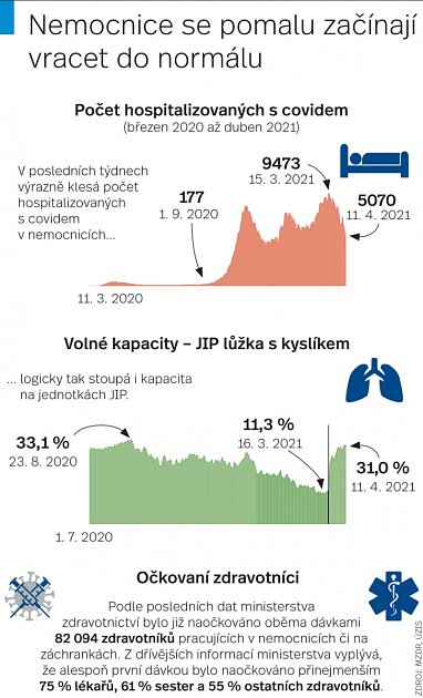 Kapacity nemocnic - Infografika