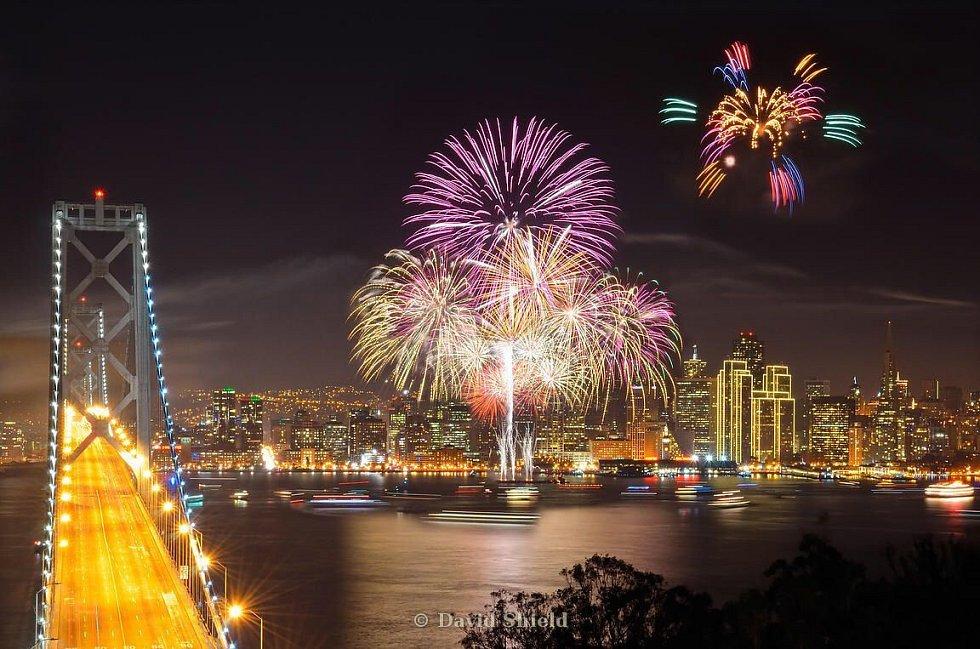Novoroční oslavy v San Franciscu
