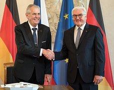 Český prezident Miloš Zeman a německý prezident Frank-Walter Steinmeier