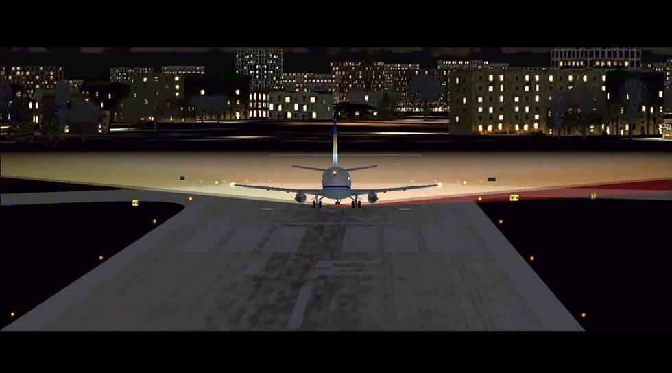 Pokus o vzlet letu LAPA 3142 na počítačové animaci