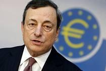 Prezident Evropské centrální banky (ECB) Mario Draghi.