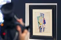 Kubistický kvaš L'Homme au Gibus (Muž s gibusem – skládacím cylindrem) namaloval Picasso v roce 1914.