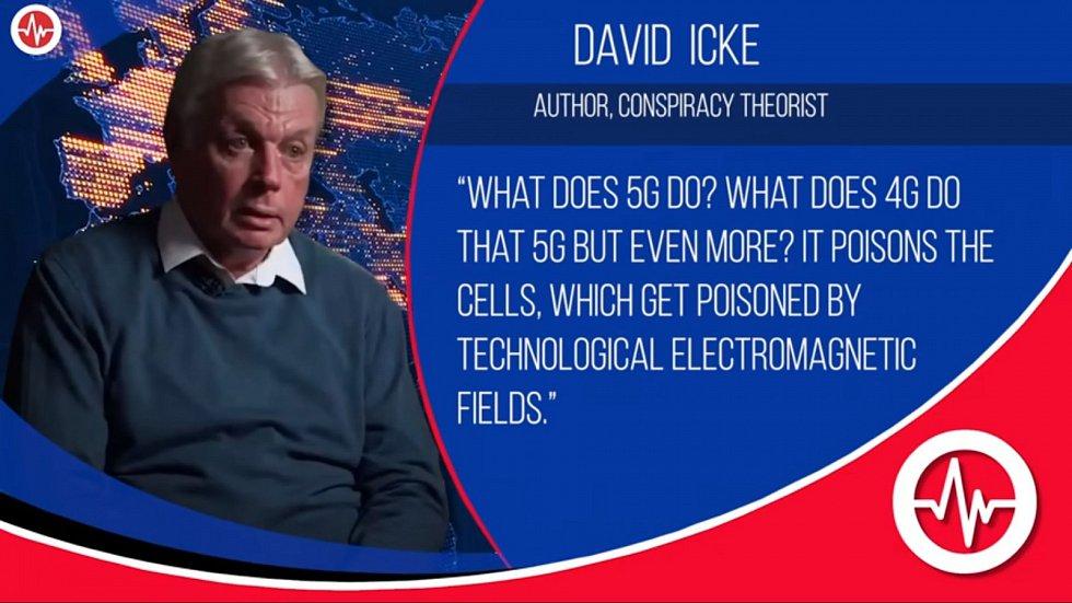 Podle Ickeho je 5G technologie škodlivá