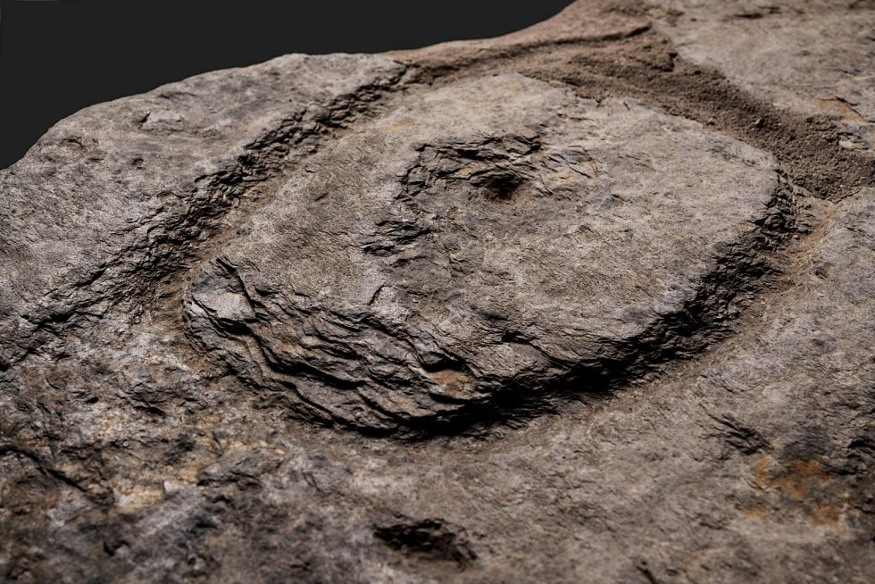 Kamenná deska znázorňuje oblast Finistère.