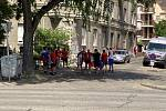 Fanoušci z Náchoda a Dolního Bousova vyrazili do Budapešti podpořit české fotbalisty v osmifinále mistrovství Evropy proti Nizozemsku.