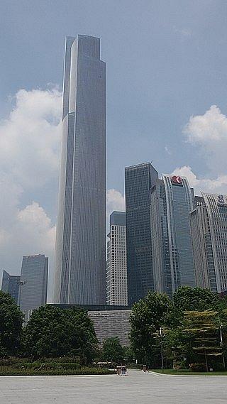 Nejvyšší mrakodrap v čínském Kantonu a zároveň držitel sedmého a osmého místa v žebříčku nejvyšších budov světa je Guangzhou CTF Finance Centre.