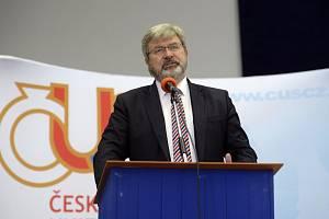 Předseda České unie sportu (ČUS) Miroslav Jansta na valné hromadě ČUS 24. června 2020 v Nymburku