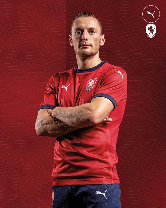 Slávista Vladimír Coufal v novém reprezentačním dresu.