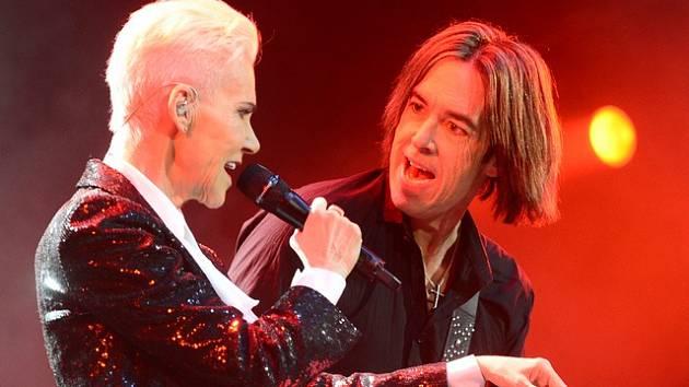 Švédská poprocková dvojice Roxette. Marie Fredriksson a Per Gessle.