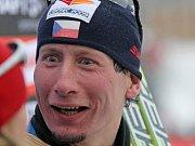 Lukáš Bauer v cíli Tour de Ski.