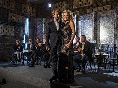 Česká televize uspořádala 7. září v Praze tiskovou konferenci k sedmé řadě televizní taneční soutěže StarDance. Leona Machálková a Michal Necpál.