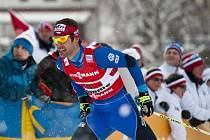 Dušan Kožíšek ve sprintu dvojic na MS ve Val di Fiemme.