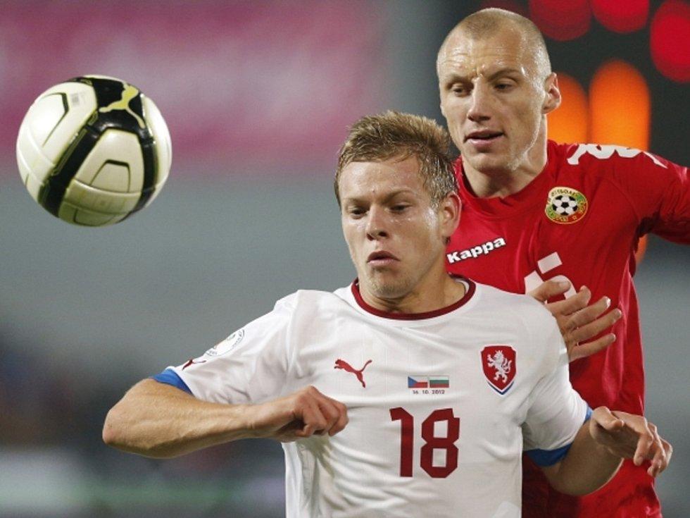 Matěj Vydra (vlevo) proti Bulharsku.