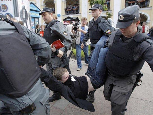 Protivládní demonstrace v Moskvě.