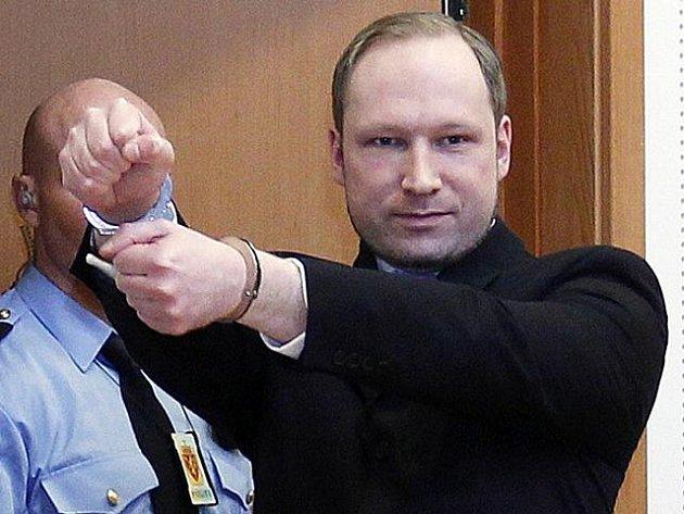 Norský atentátník Anders Behring Breivik u soudu.