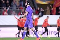 Petr Čech se v dresu Arsenalu vrátil do Rennes