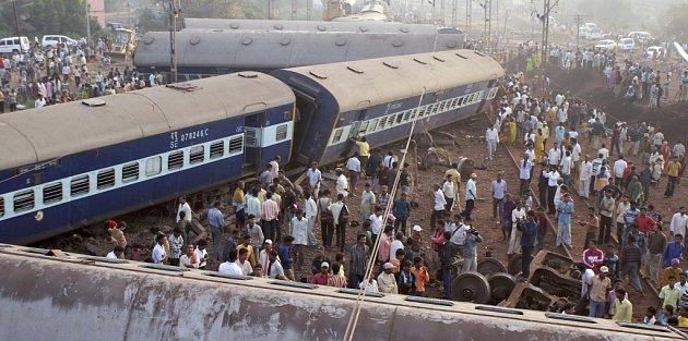 Nehoda osobního vlaku ve východoindickém státě Orisa.