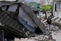 Nové otřesy o síle 7,4 stupně dnes zasáhly oblast u japonského města Kumamoto na ostrově Kjúšú.