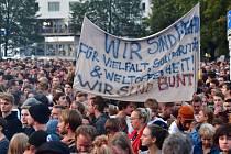 Koncert proti krajně pravicovému násilí v Saské Kamenici (Chemnitz)