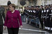 Německá kancléřka Angela Merkelová při návštěvě Řecka.