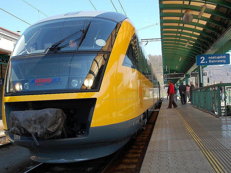 Vlak Regiojet (ilustrační snímek)