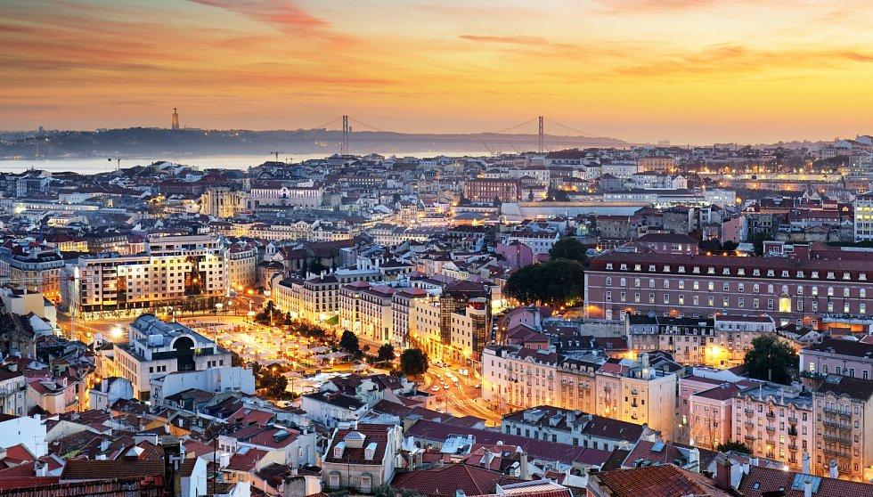 Lisabon při západu slunce