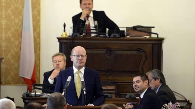 Schůze Poslanecké sněmovny, která se 16. října v Praze sešla kvůli memorandu o těžbě lithia