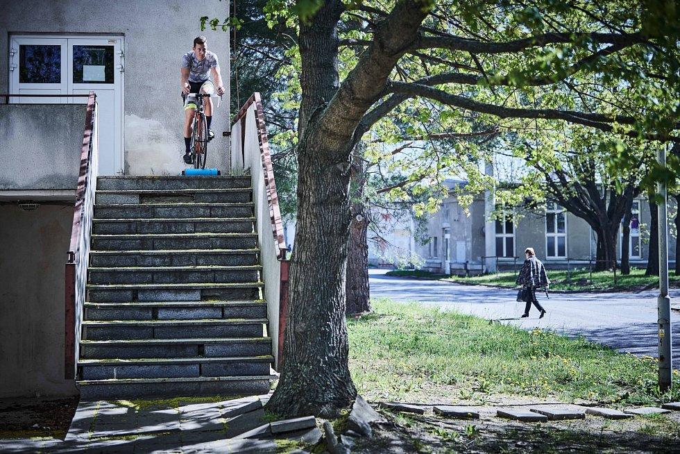 Tomáš Bábek a jeho trénink (dráhová cyklistika)