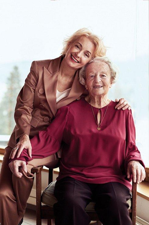 Herečka Veronika Stropnická s matkou Olgou Žilkovou