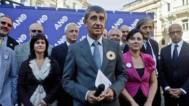 Volební lídři hnutí ANO