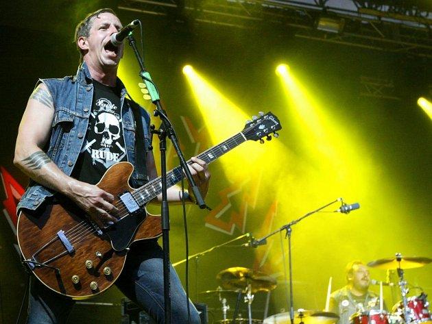 Zpěvák mexické kapely Molotov, Randy Ebright.