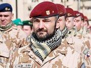 Kontingent českých vojáků z Provinčního rekonstrukčního týmu v Afghánistánské provincii Lógar.