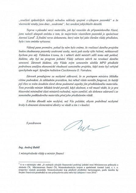 Žádost ministrů