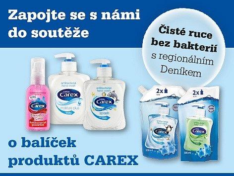 Zapojte se s námi do soutěže o balíček produktů CAREX.
