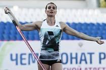 Hvězdná tyčkařka Jelena Isinbajevová.