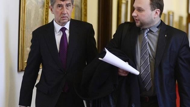 Ministr financí Andrej Babiš (vlevo) a ministr zemědělství Marian Jurečka.
