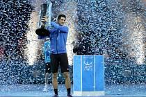 Novak Djokovič jako první tenista v historii vyhrál Turnaj mistrů počtvrté za sebou.