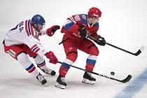 Česko v zápase s Ruskem. DAVID MUSIL (vlevo) a NIKITA SOŠNIKOV (vpravo)