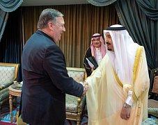 Šéf americké diplomacie Mike Pompeo při návštěvě Blízkého východu