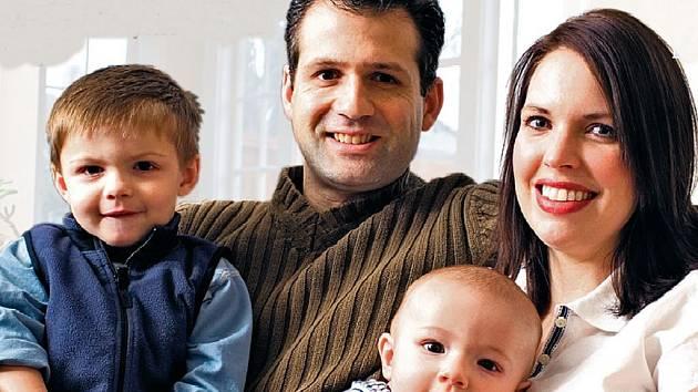 Rodina se dvěma dětmi.