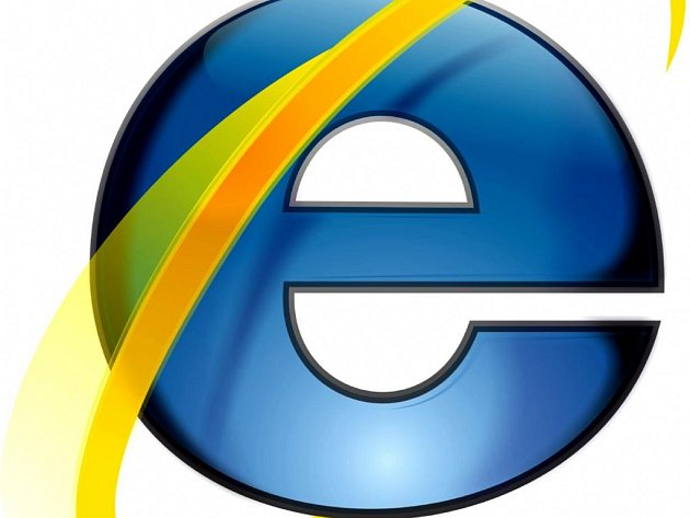 Logo internetového prohlížeče Internet Explorer.