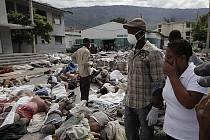 Přírodní katastrofy si loni vyžádaly 295.000 obětí na životech, což je nejhorší bilance od roku 1983. Celkově bylo ve světě zaznamenáno 950 pohrom. Na snímku oběti zemětřesení na Haiti